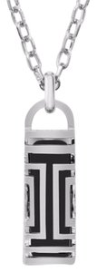 Tory Burch Stainless steel (silver) fit bit necklace