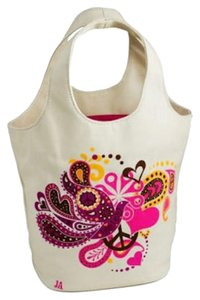 Jonathan Adler Canvas Paisley Tote in White