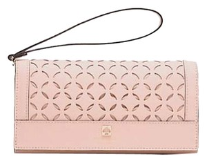 Kate Spade Leather Wristlet in POSETTA PINK