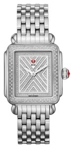 Michele NEW Art of Deco Pave Diamond Limited Rare MWW06T000062 Ladies Watch
