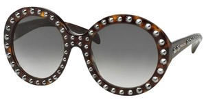 Prada Prada PR29QS-2AU0A7 Women's Tortoise Frame 56mm Sunglasses New In Box
