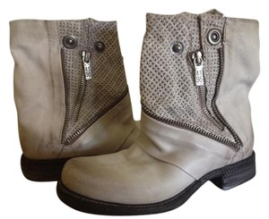 A.S. 98 Leather Light Gray Boots