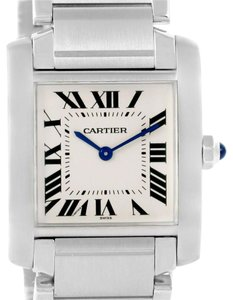 Cartier Cartier Tank Francaise Midsize Silver Dial Steel Ladies Watch WSTA0005
