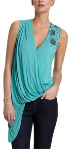 Anthropologie Drape Top Green