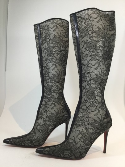 Christian Louboutin Lacey High Black Boots