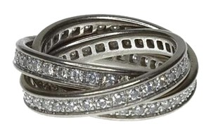 Cartier Cartier 18K White Gold Diamond Trinity Ring
