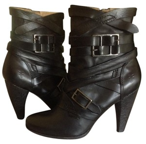 Frye Ankle Boot Leather Black Boots