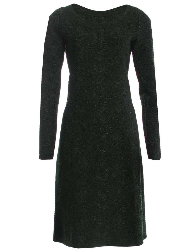 ALAÏA Green and Metallic Forest Fit & Flare 38 Short Cocktail Dress ...