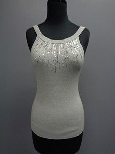 Cache Embellished Top Gray