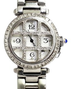 Cartier Pasha 2378 Stainless Watch With Aftermarket Set 7.45 CtTw Diamonds
