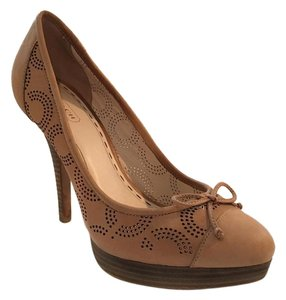 Coach Bethanie Leather Pump Tan Pumps