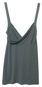 BCBGMAXAZRIA Bcbg Medium Knit Knit Tank Draped Top Sage Green