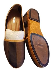 Fendi Brown/ mustard Flats
