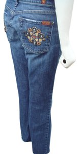 7 For All Mankind Sfam Size 27 Seven Distressed Distressed Boot Cut Jeans-Distressed