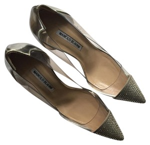 Manolo Blahnik Silver/ transparent Pumps