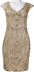 Sue Wong Art Deco Embellished Embroidered Beaded Party Dress