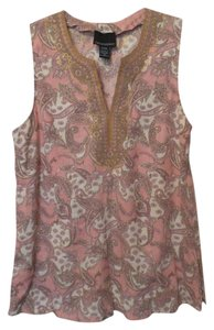 Cynthia Rowley Embroidered Applique Linen Xl Tunic