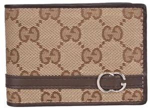 Gucci NEW Gucci Men's 268508 Beige Canvas GG Guccissima Bifold Wallet