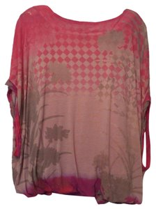 Free People Knit Oversized Top Pink, taupe, grey, purple