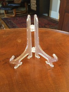 24 Table Number Or Sign Holders - Clear
