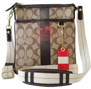 Coach Plaid Cross Body Bag