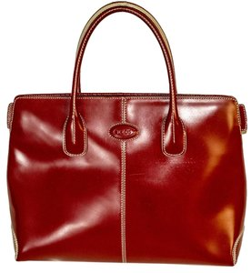 Tod's Leather Tote in reds