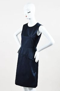 Marni Navy Satin Finish Dress