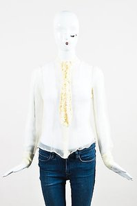 Alexander McQueen Sheer Top Cream