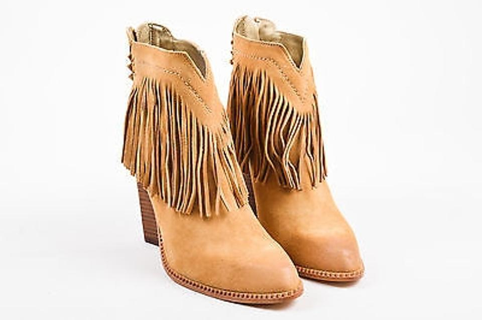 Twelfth St. by Cynthia Vincent Cynthia Vincent Native Camel Booties Brown Suede Fringed Tanlea Booties Camel 36d5de