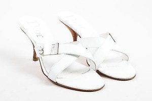 Dior Christian Leather White Sandals