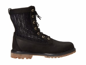 Timberland Open Weave Combat Hiking Black Boots