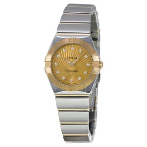 Omega Omega Constellation Gold Diamond Dial Steel And Gold Ladies Watch
