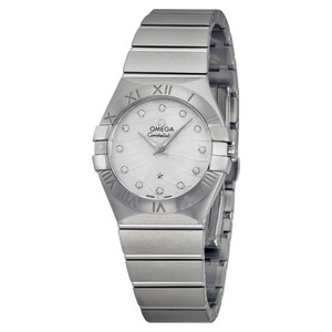 Omega Omega Constellation Mother Of Pearl Diamond Dial Stainless Steel Ladies Watch
