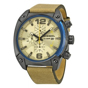 Diesel Diesel Overflow Chronograph Taupe Dial Leather Mens Watch