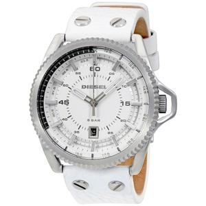 Diesel Diesel Rollcage White Dial Leather Mens Watch