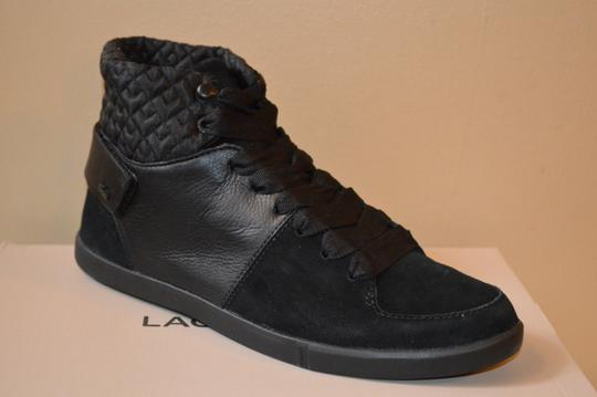 Lacoste Black Suede and Quilted Leather Athletic