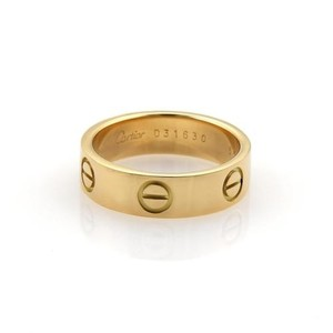 Cartier Cartier Love 18k Yellow Gold Wide Band Ring Eu 55-