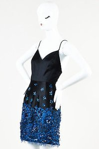 Other Samantha Sleeper Blue Sequin Lace Spaghetti Strap Dress