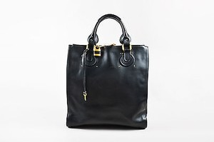 Chloé Chloe Leather Gold Hardware Paddington Tote in Black