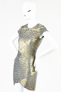 Torn by Ronny Kobo Gold Dress