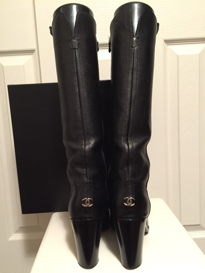 Chanel Leather Black Boots Image 1