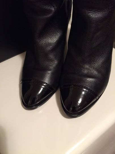Chanel Leather Black Boots Image 3