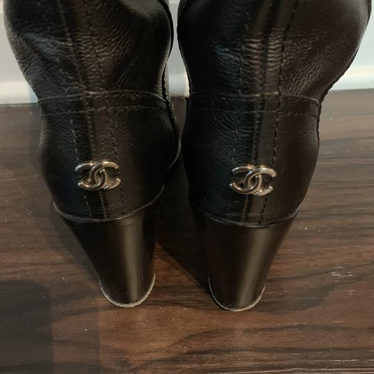 Chanel Leather Black Boots Image 7