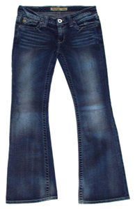 Big Star Sweet Ultra Low Rise Medium Wash Boot Cut Jeans-Medium Wash