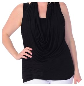 Other Plus Size Cowl Neck Sleeveless Shell Cami Tunic