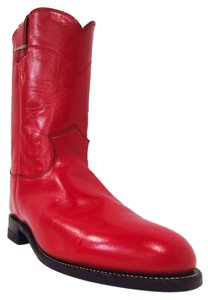 Justin Boots Roper Cowboy Red Boots