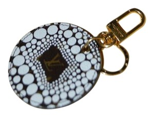 Louis Vuitton Limited Edition White Kusama Keychain / Bag Charm Excellent in Box