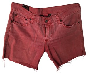 Lucky Brand Cut Off Shorts Faded Red