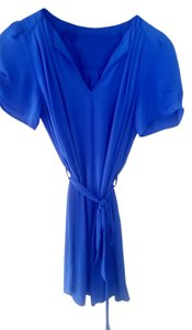 Maison Jules short dress Cobalt Blue Summer Mini on Tradesy