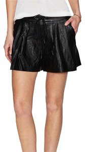 BlankNYC Leather Summer Boyfriend Dress Shorts Black